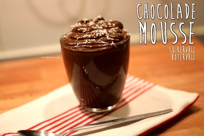 Recept: Chocolade Mousse - Suikervrij, Botervrij, Lactosevrij! - FitbeautyFitbeauty