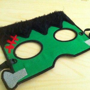 In the Hoop Machine Embroidery Halloween Frankenstein Mask with Tutorial