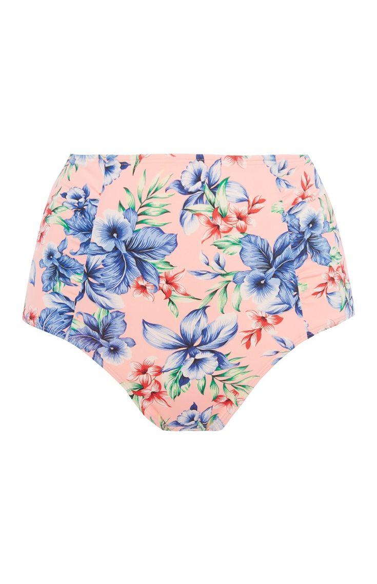 Primark - Pfirsichfarbene High-Waist-Bikinihose