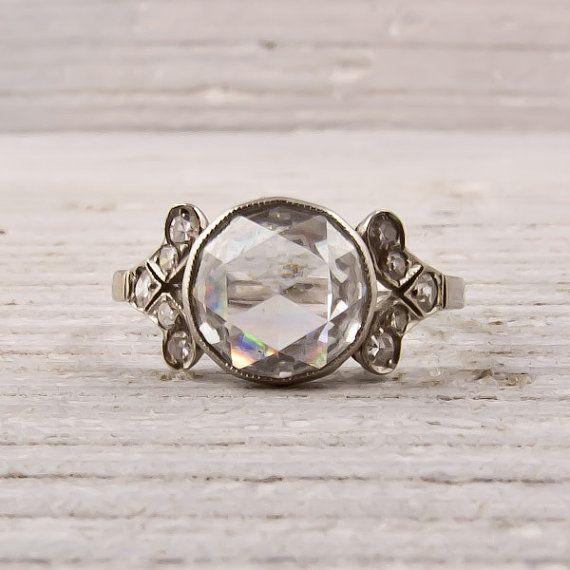 Art Deco carat rose-cut diamond, love. vintage. gorgeous!