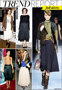 Trend: pleated or 'full' skirt