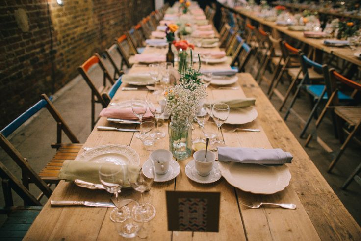 Image by Chris Barber Photography - A cool and contemporary english city wedding in London with Jenny Packham dress and lots of DIY home made elements. Bridesmaids in Coast and Photography by Chris Barber