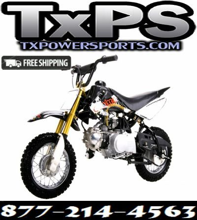 Coolster High End Dirt Bike Pit Bike 70CC, Air-Cooled Single-Cylinder Four-Stroke Free Shipping Sale Price: $539.00