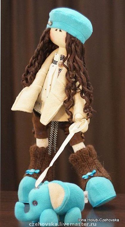 Muñecas de colección hechos a mano.  Masters Feria - Franka muñeca hecha a mano.  Hecho a mano.