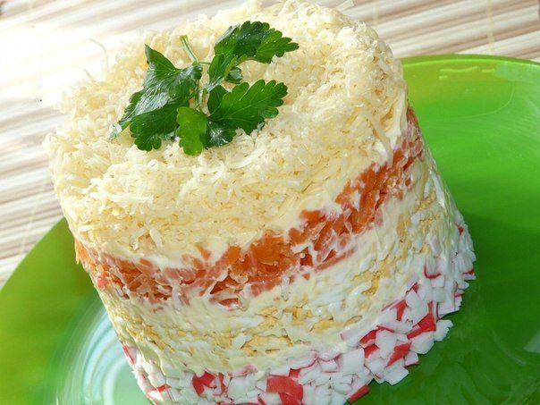 """Salad """"Tenderness"""" with crab sticks"""