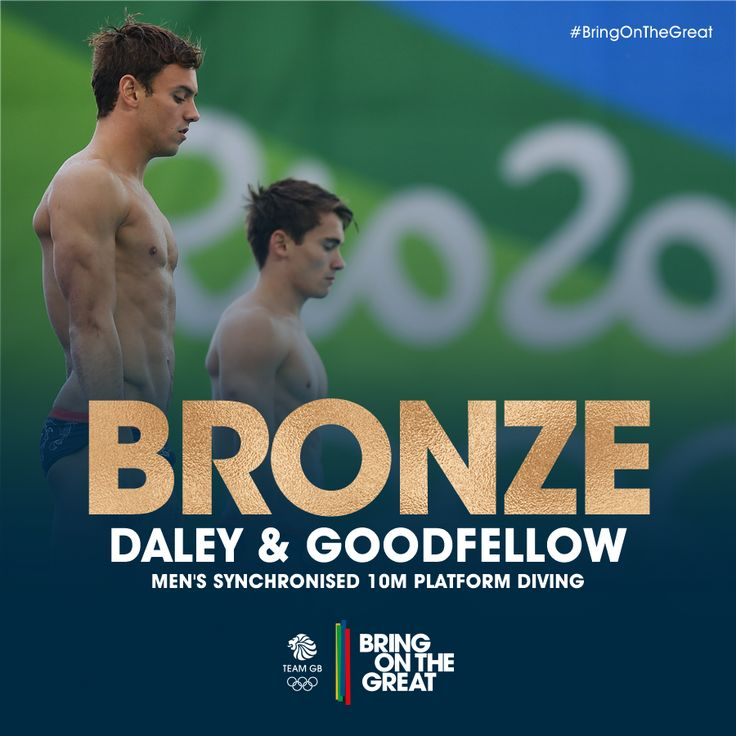 """""""Boom! #Bronze! @TomDaley1994 & @danngoodfellow medal at #Rio2016 in the Men's Synchronised 10m Platform…"""