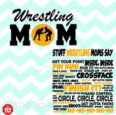 Stuff Wrestling Moms Say design SVG and studio files by SVGstop