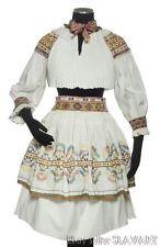 SLOVAK FOLK COSTUME Zliechov embroidered blouse pleated skirt apron Cicmany KROJ