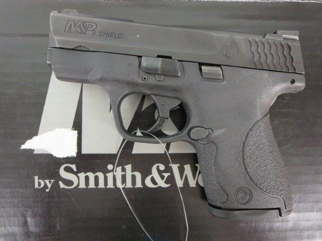 Used Smith & Wesson M&P Shield 9mm w/ night sights, extra magazine and box $395 - http://www.gungrove.com/used-smith-wesson-mp-shield-9mm-w-night-sights-extra-magazine-and-box-395-2/