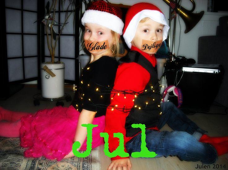 Julekort humor medTvillingerne