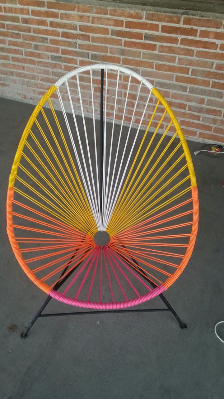 Acapulco chair cb2 - Custom Color Acapulco Chair Unique Patio Chair