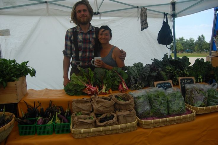 Chinese-Canadian urban farmer Amy Cheng at Sorauren Farmers' Market #Toronto #organic #Asian #vegetables #Chinese #Canadian