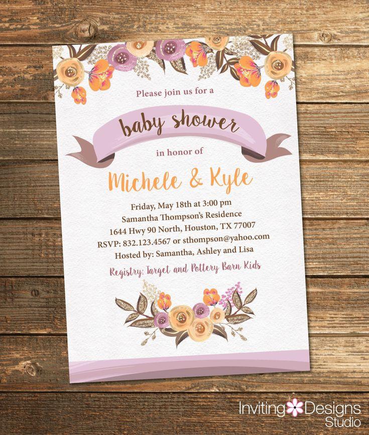 279 best Baby Shower Invitations images on Pinterest | Shower ...