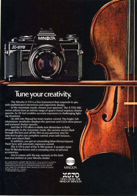 vintage everyday: Vintage Minolta Camera Advertising