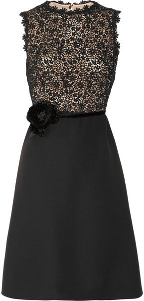 Silk-crepe and Lace Dress-I so love this dress.
