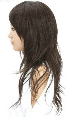 Hair Styles World: Long layered Asian women haircut with side bangs