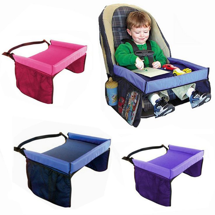 Waterproof table Car Seat Tray Storage Kids Toys Infant Holder Seats for Children 5 Colors
