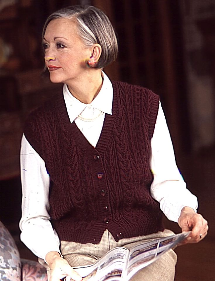 162 best Knitting 1C - Vests images on Pinterest   Knit patterns ...