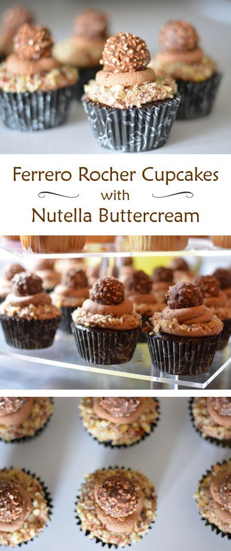 Buttercream - rich chocolate cupcakes with a chocolate hazelnut ...