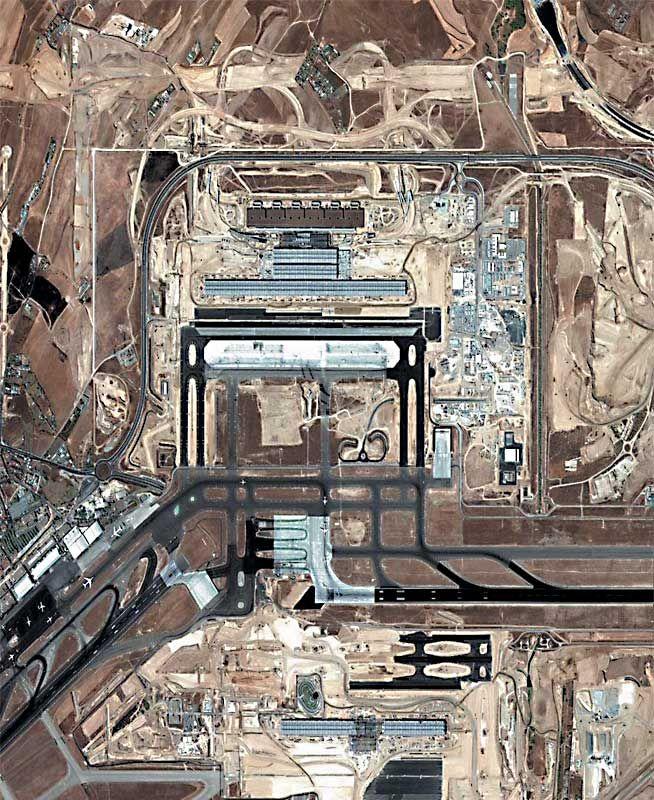 Barajas Airport Aerial View