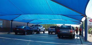 Eddy Shade Awning & Patio Sail: carport shade sail with 100% Virgin HDPE