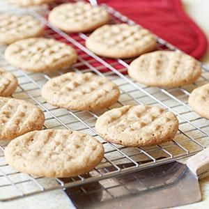 Impress your guests with these simple, 4-ingredient peanut butter cookies,
