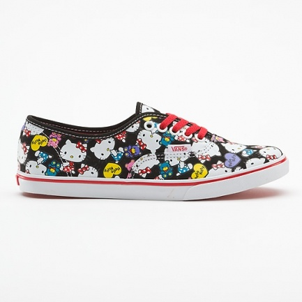 Vans Authentic Lo Pro Hello Kitty VQES66Z, zwarte vans schoenen | x-kds.com 3,5 jaar official online dealer, bekijk nu winter 2012.