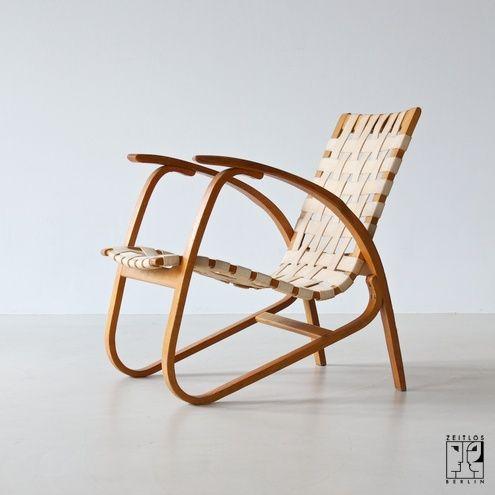 Avant garde lounge chair in the style of Erich Dieckmann - ZEITLOS – BERLIN