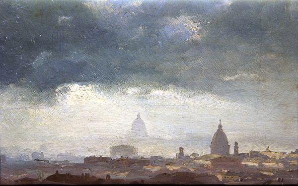 Nebbia su Roma / Vedute / Route by subject - Museo di Roma