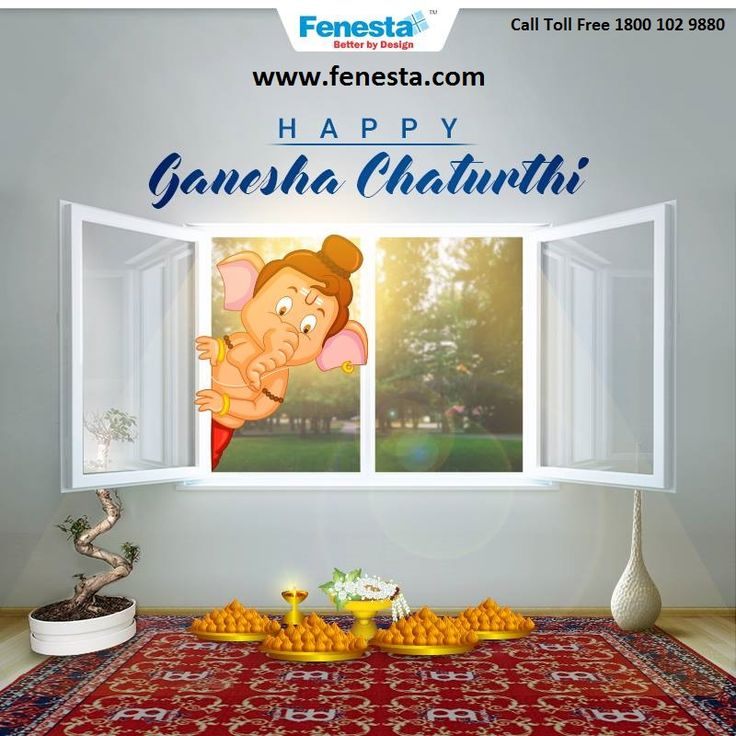 May Lord Ganesh bring peace, happiness and prosperity to you and your family. #Fenesta wishes you a Happy #GaneshChaturthi. Fenesta is a leading supplier of uPVC doors and windows in India. For more detail Call Toll Free 1800 102 9880