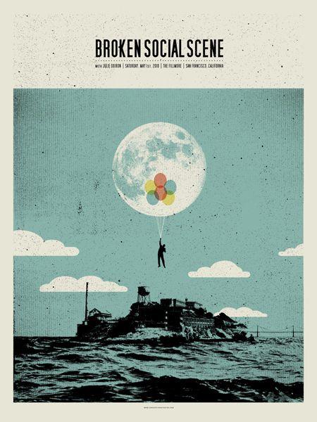 Broken Social Scene gig poster by Concepcion Studios
