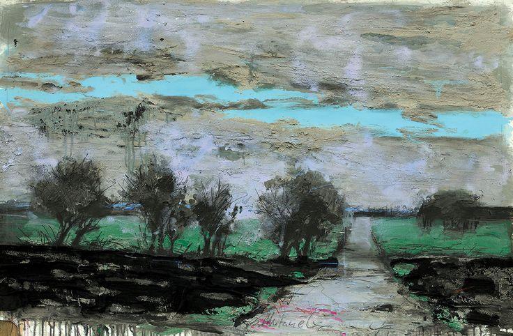 Владимир Мигачев «Пейзаж 12-13». Бумага, смешанная техника. 2014 #art #contemporaryart #russianart
