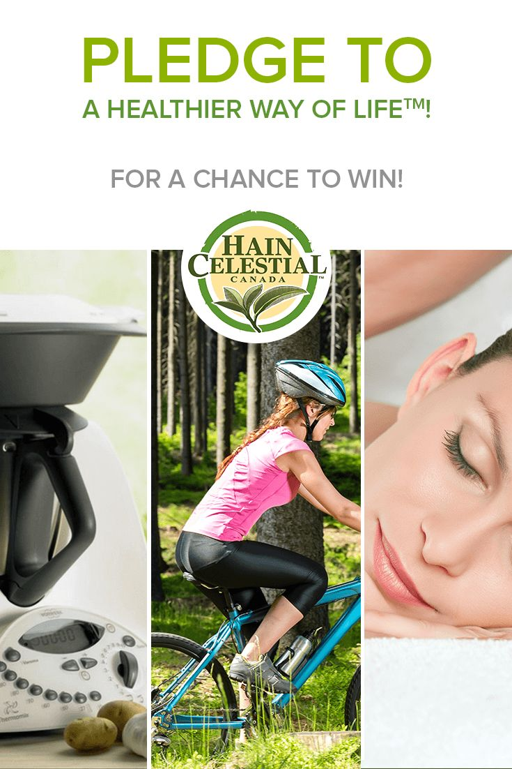 Pledge for a Healthier Way of Life and get a chance to win an experience prize of your choice! (From April 11 to May 14 2014, contest open to Canadian residents only.) #HainCelestial #contest