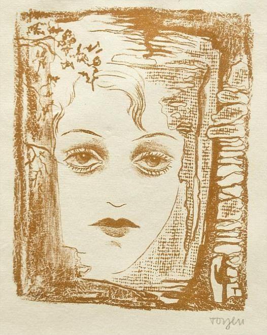 Toyen (or Marie Čermínová) (Czech, 1902-1980)Girl with open eyes, N/DMade of litography