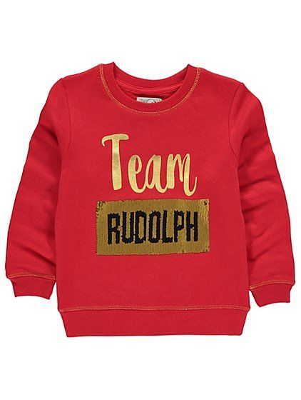 Let your little diva choose a team with this jazzy sequined sweatshirt. A super cool alternative to the classic knitted Christmas jumper, this colourful swea...