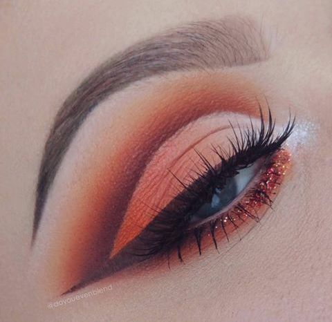 c❍̧venka☥̧ Eye makeup / eyeshadow for green or blue eyes orange / peach / pink warm tones