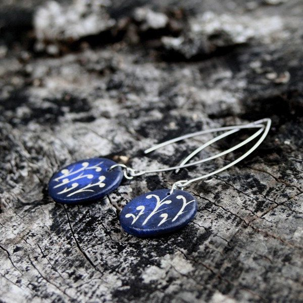 Ceramic earrings, ceramic jewelry by Brekszer on Etsy