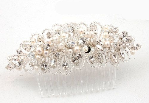 Pearl & Crystal HaircombBridal Haircomb Hair by AnnieLaurieBridal