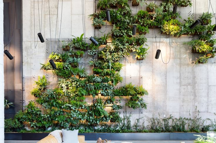 check out this brooklyn hotel 39 s dramatic living wall installation interior c hotel pinterest. Black Bedroom Furniture Sets. Home Design Ideas