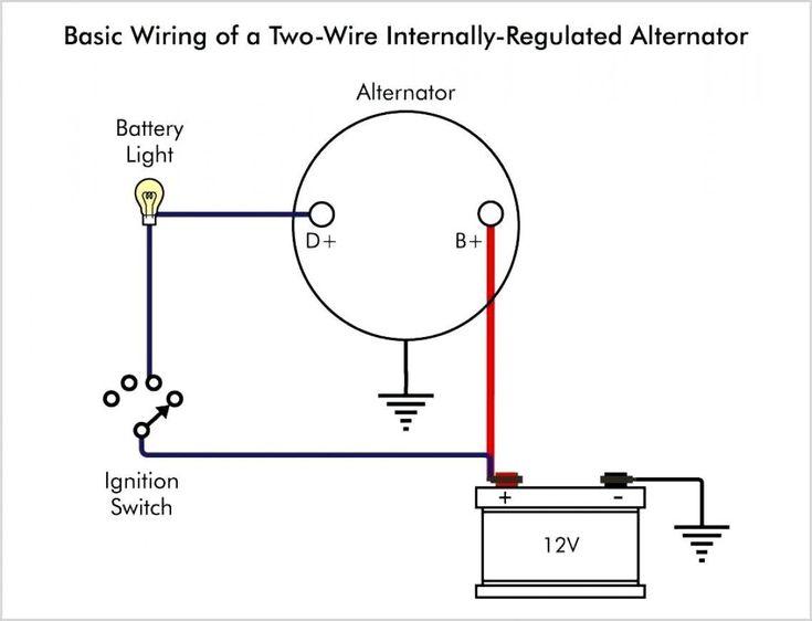A Wiring Diagram Is Type Of Schematic, Automotive Alternator Wiring Diagram