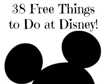 Free Things to Do at Disney