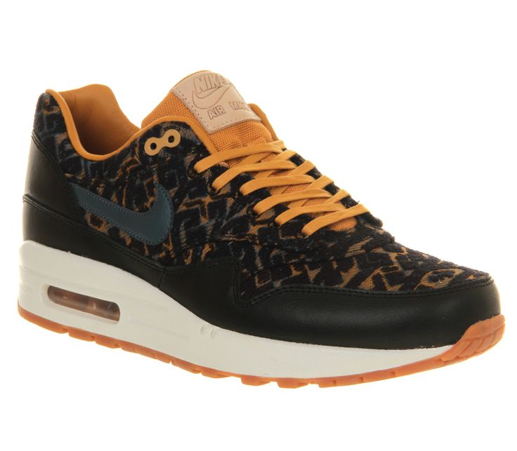Nike Air Max 1 (l) Black Gold - Hers trainers.  Serious temptation...!  Should I? A x