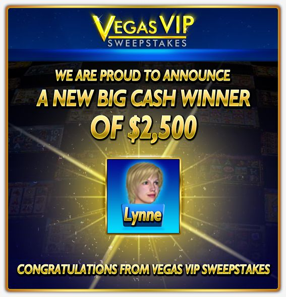 Big Cash Winner at Vegas VIP Sweepstakes, where winning is made easy! #slots #online #casino #games #free #virtual #lobby #poker #roulette #cash #winner #prize #prizes