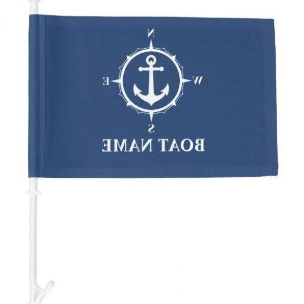 Your Boat Name Compass Anchor Flag Ad Anchor Flag Created Shop Ad In 2020 Boat Names Boat Names