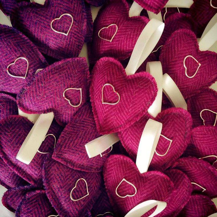 Scottish Wedding Favours with bright Harris Tweed!  www.ThePurpleThistle.co.uk