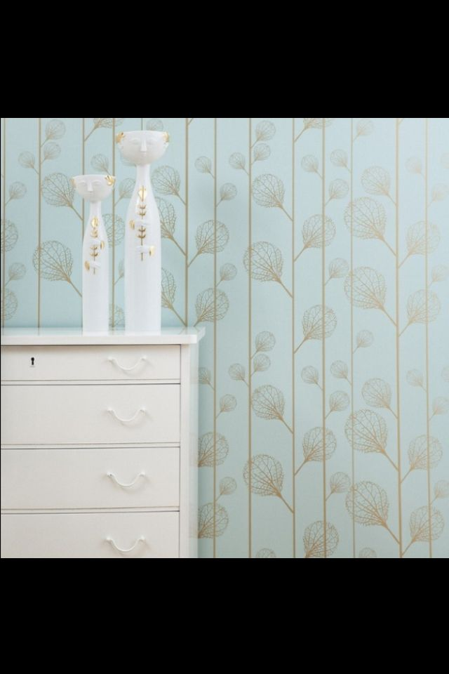 ferm LIVING Ribbed Wallsmart Wallpaper in Turquoise