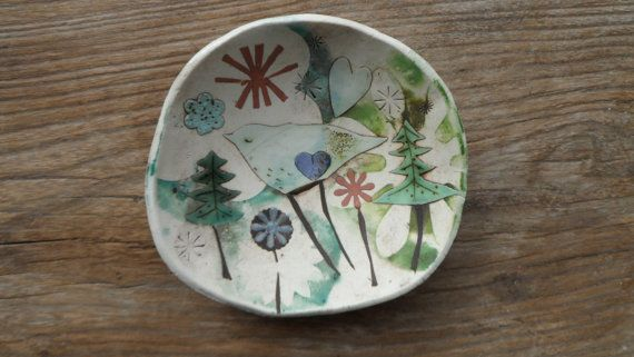 Small Porcelain/Stoneware Dish by ELIZABETH HOWE on Etsy
