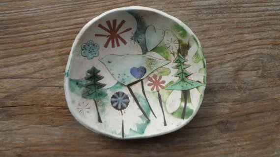 Small Porcelain/Stoneware Dish by ELIZABETH HOWE on Etsy