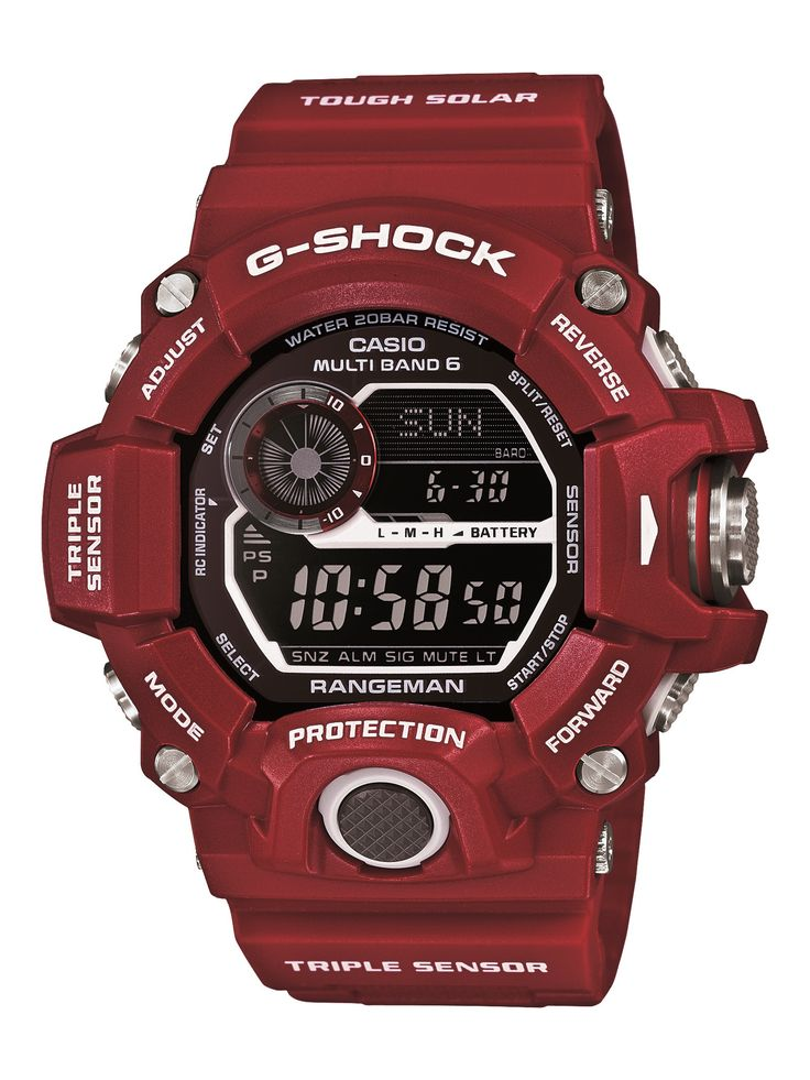 "G-SHOCK Launches Master Of G - Man In Red - the new color collection called ""Man In Red"" includes G-Shock Mudman and Rangeman models... now see our ""Casio GW9400 Rangeman Watch Review: Best G-Shock Today?"" article on aBlogtoWatch.com"