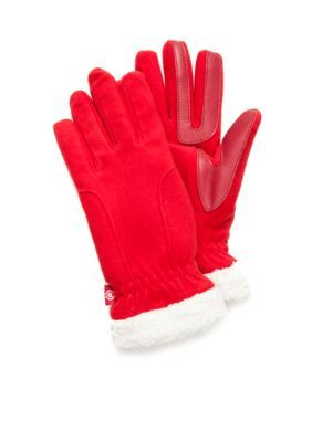 Totes Isotoner Smartdri Smartouch Fleece Gloves - Really Red - One Size